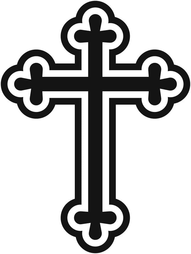 Cross Crest Tribal Pattern Religious Symbol Wall Or Car Vinyl Peal And Stick Removable Sticker Decal L1400