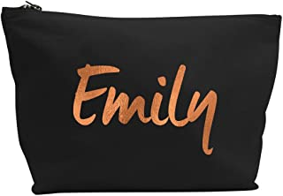 Treat Me Suite Personalised Bridesmaid Name Make Up Accessory Bag Any Name Metallic Gold Print The Any Occasion, Christmas, Birthdays Weddings