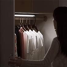 LED Closet Light, Wanjiaone Under Cabinet Light, Motion Sensor Light, 60 °Angle Adjustable Stick On Light, 2400mAH Battery Light, Wireless Light for Closet/Wardrobe/Stairs/Hallway/Cupboard