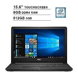 2020 Premium Dell Inspiron 15.6 Inch HD Touchscreen Display (Intel Core i3-7100U, 2.40GHz, 8GB DDR4 RAM, 512GB SSD, Intel HD Graphics 620, HDMI, Bluetooth, 802.11n, Windows 10)