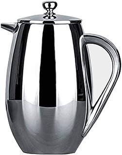 De Franse pers Franse pers koffiezetapparaat, Frans drukvat Coffee Filter Pot dubbele RVS Huishoudelijke Coffee Pot Pressu...