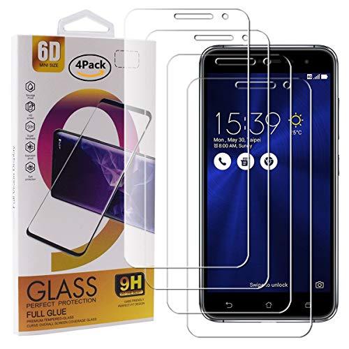 Guran 4 Pezzi Pellicola Protettiva in Vetro Temperato per ASUS Zenfone 3 ZE520KL (5.2pollice) Smartphone 9H Durezza Anti-Impronte HD Alta Trasparenza Pellicola