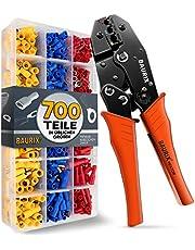 BAURIX ® Crimptång med 700 stycken kabelskor set I [0,50–6,0 mm²] kabelskotång I krimptång kabelskor, presstång, presstång