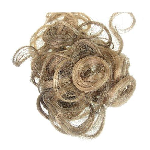 66 VANESSA GREY Toutes les couleurs disponibles, Chouchou Extension De Cheveux Bouclé Dans Notre Nouveau Mélange Blond Doré Marron