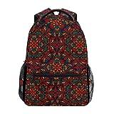 DXG1 - Mochila para Mujer, Hombre, Adolescente y niña, diseño de Mandala roja psicodélica, para Viaje, Universidad, Hombro, Gran Capacidad, 40,5 x 29 x 20 cm
