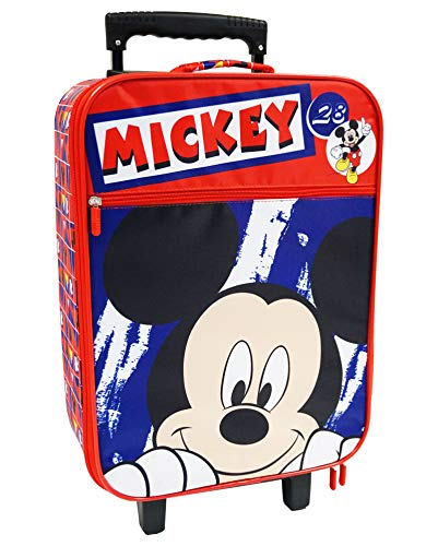 Mickey Maleta para niños, trolley de cabina, 53 centímetros, 25 litros, multicolor
