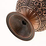 Hellery Vintage Mini Runde Kugel Mit 3D Handgefertigten Gestempelten Schmuck Aschenbecher Box - Rote Bronze - 9