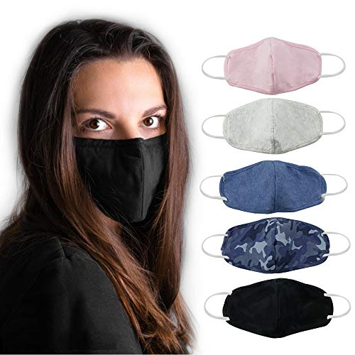 DDY Face Anti-Dust for Outdoor,Reusable, Washable,Cotton Soft, windproof and Breathable Fit men and women(Mix3color,3PCS)