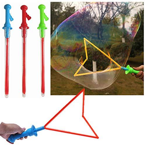 Cuigu - Palos de burbujas para niños, diseño de espada en forma de jabón de burbujas