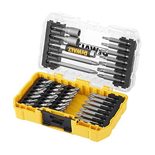 Dewalt DT70702 40 Piece Impact Screwdriver Bit Set + Tough Case Fits TStak Caddy, Black