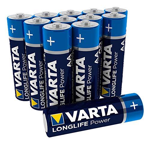 VARTA Longlife Power AA Mignon LR6 Batterie (12er Pack) Alkaline Batterie - Made in Germany - ideal für Spielzeug Taschenlampe Controller und andere batteriebetriebene Geräte