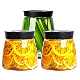 FSGD - Tarro de Cristal para Cocina Transparente con Varios Granos