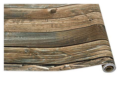 HYCSP Retro Faux Holzmaserung schälen und Stick Tapete Selbstklebende Holz Plank Tapete Rolle entfernbare Vinylwandverkleidung for Restaur (Color : Wood Grain, Size : 1mx45cm)