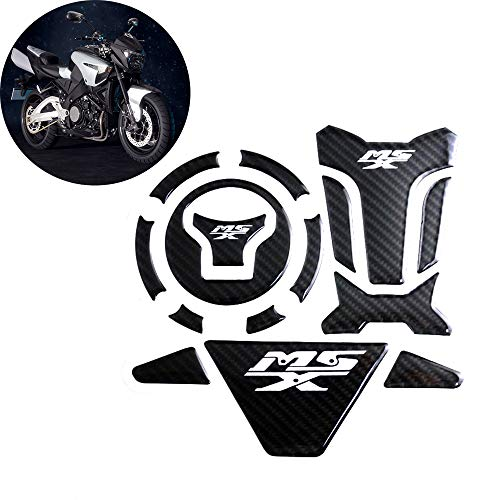 Real Carbon Fiber Motorcycle Tank Pad Gas Oil Fuel Tank Pad Protector Decal Tank Stickers For Honda GROM MSX 125