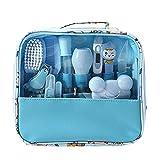 13 Unids Bolsa de Cuidado de la Salud Bebé Higiene Diaria de Uña Clipper Tijeras Cepillo Peine Peine Cuidado de Manicura (azul)