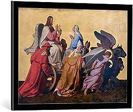 Kunst für Alle Cuadro con Marco: Joseph Ritter Von Führich Der Triumph Christi - Impresión artística Decorativa con Marco, 75x55 cm, Negro/Canto Gris