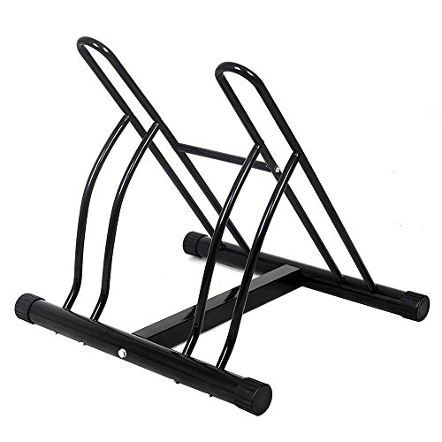 BAKAJI - Soporte para Bicicletas de 2 plazas, Multiusos, de Suelo, para...