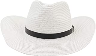 Sun Hat for men and women Summer Western Cowboy Hat Straw Sun Hat Male Outdoor Beach Hat Visor Women Sun Hat Cap Thin Belt Decoration Sunbonnet