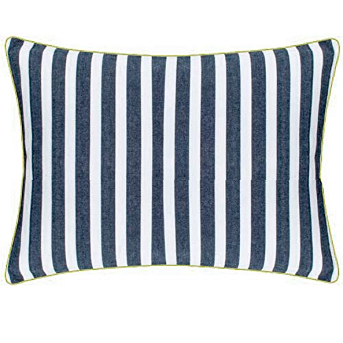 PAD - Kissenhülle - Kissenbezug - CHETTO - Baumwolle - Marine - blau/weiß - gestreift - 30 x 50 cm
