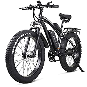 Electric Bikes Shengmilo MX02S 48V 1000W Electric Bike Electric Mountain Bike 26inch Fat Tire e-Bike S-h-i-m-a-n-o 21 Speeds Beach Cruiser Mens Sports Mountain Bike Lithium Battery Hydraulic Disc Brakes [tag]