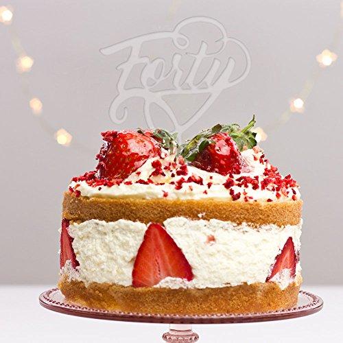 Directly Personalised Quarante 40 Fortieth fête d'anniversaire de gâteau Plastique Acrylique Décoration Alimentaire régulier