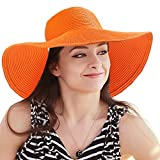 Womens Straw Hat for Beach - Large Sun Hat...