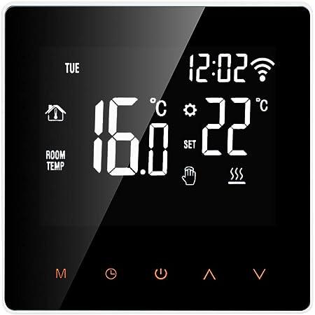 Wifi//WLAN Digital Raumthermostat Unterputz Programmierbares Wandthermostat 230V mit Steuerung per App und gro/ßem LCD Display f/ür elektrische Heizungen und Fu/ßbodenheizungen von imowell