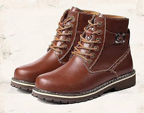 Oudan botas cálidas de Invierno para Hombre Botines Impermeables con Exterior clásico (Color   47, tamaño   marrón)