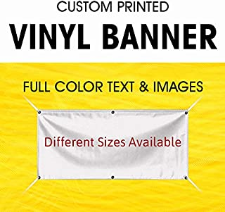 Custom Vinyl Full Color Banner Indoor Outdoor with True Solvent Ink Signs and Grommets (3' x 6')
