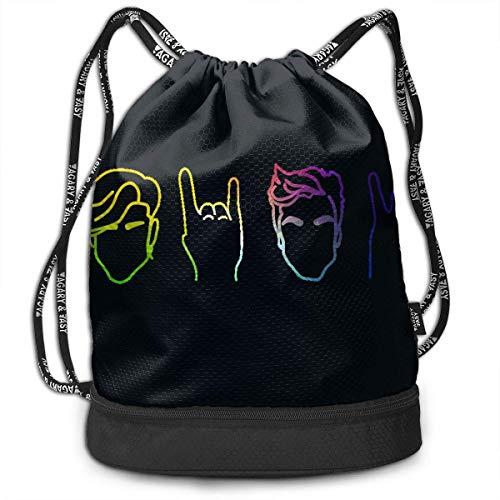 Sporttaschen, Rucksäcke,Men Women Outdoor Sport Gym Sack Drawstring Backpack Bag, Rianbow Dolan&Twins