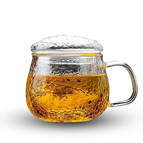 Cosmouk 400ml de vidrio con una taza de té de taza de té de leche adecuada taza de té taza de desayuno café café taza taza leche cappuccino taza whisky taza jugo o bebida caliente (Size : A)