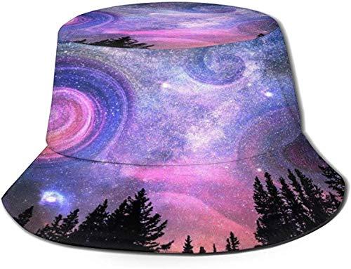 DUTRIX Vortex Galaxy Sky Tree Sombrero para el Sol Sombreros de Pescador a Prueba de Sol - Gorra de Pesca al Aire Libre UPF 50+ Gorra de Cubo para Hombres Mujeres Negro