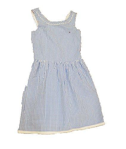 Tomy Hilfiger - Dress Monica Gingham, Girl, White/Blue (16)