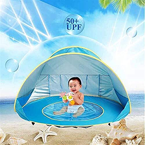 Tente de Plage for bébé, Tente Portable avec Piscine Pop Up Sun Abris for Les Enfants en Plein air bébé Voyage Lit for bébé Pare-Soleil Tout-Petits Enfants Parcs Plage