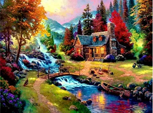 MSRDBBDIY 5D Diamond Painting Landscape Full Diamond Crystal Rhinestone Embroidery Cross Stitch Adult Digital Painting kit Art Mosaic Home Wall Decoration Gift