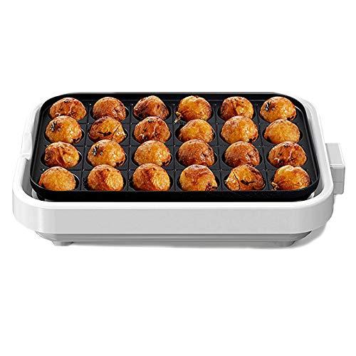 WMLS Elektrischer Takoyaki Maker, 24 Löcher Maruko-Backmaschine Omelett-Herd, Antihaftbeschichtung Einfach zu Verwenden 220v