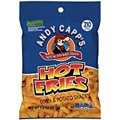 Andy Capp's Hot Fries pack a powerful punch and flavorful kick with every bite Switch up your snack routine with the snack that looks like a fry and crunches like a chip Spicy but not too hot, Andy Capp's Hot Fries turn up the heat just enough Road t...