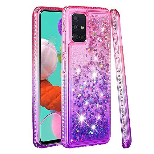 6City8Ni Colorful Star Diamond Liquid per Xiaomi Poco M3,Anti-Scratch Gel Cover Girls Colore Glitter Bling Silicone in Sottile Custodia TPU Flessibile Bumper