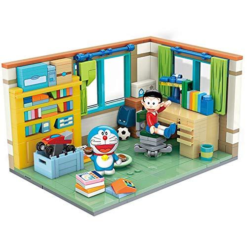 Bloques de construcción Doraemon Nobita Nobis Altamente Restaurado Montaje De La Habitación Modelo De Máquina Del Tiempo Bloques De Construcción Kit