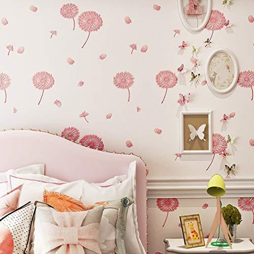 Behang, Woonkamer Slaapkamer Milieu Kind Roze Prinses Kamer Muurpapier Landelijk 3D Driedimensionale Non-woven Wandbekleding