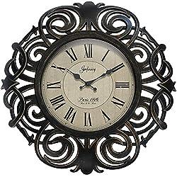 Infinity Instruments Paris France Elegant Wall Clock 18 inch Decorative Clock for Kitchen, Living Room, Bedroom Large Bronze Traditional Frame Antique Quiet-Ticking Wall Decor Quartz Movement