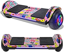 TPS Hoverboard Self Balancing Scooter with Speaker LED Lights Flashing Wheels for Kids and Adults Hover Board - UL2272 Safety Certified (Pink)