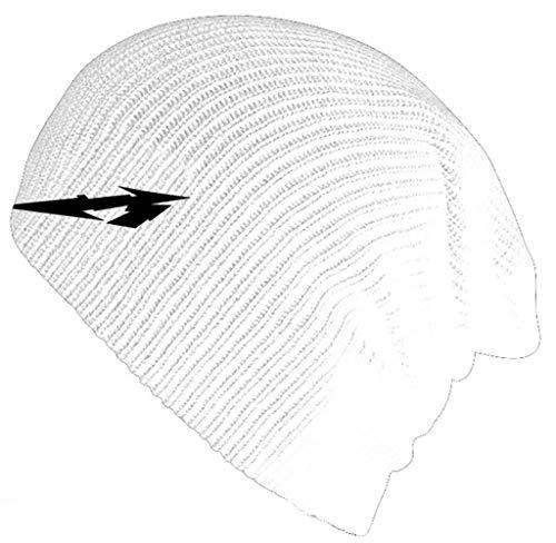 Metallica Mütze Beanie Glitch M Circle band logo Nue offiziell Weiß slouch