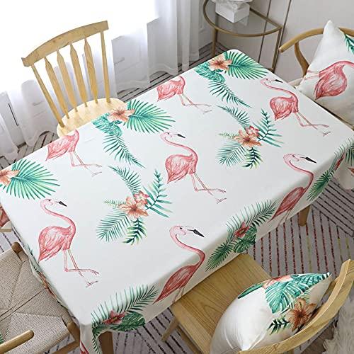 XXDD Europa Flamingo Cactus Cubierta de Tela de Mesa Funda de cojín decoración Mesa de Comedor Mantel Individual para el hogar A2 140x140cm