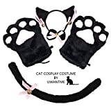 Cat Cosplay Costume Kitten Tail Ears Collar Paws...