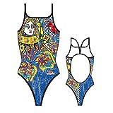 TurboTronic Queen Heart Vintage Bragas de Bikini, Multicolor, XL para Mujer