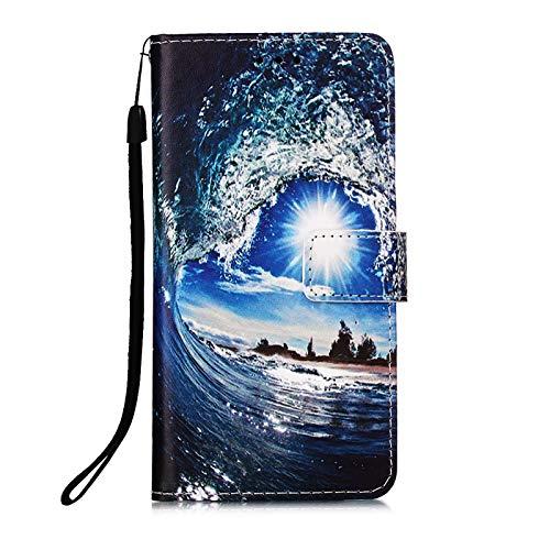 Kompatibel mit Samsung Galaxy S20 FE/S20 Lite 4G 5G Hülle Leder Kartenfach Silikon Animal Motiv Muster Klappbar Flip Hüllen Magnetisch Handyhülle Brieftasche Bumper PU Cover Hülle Mädchen Damen Himmel