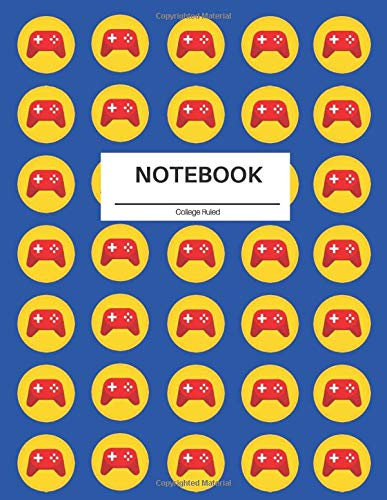 Video gamer College Ruled Composition Notebook: Single Subject Back to School Notebook