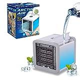 Climatiza, Ventila e Umidifica Compacto, leve e fácil de transportar É alimentado pela USB (Permite inclusive o uso de carregador portátil não incluso) Reservatório de água de 750ml (Autonomia de até 8 horas) 3 Níveis de ventilação
