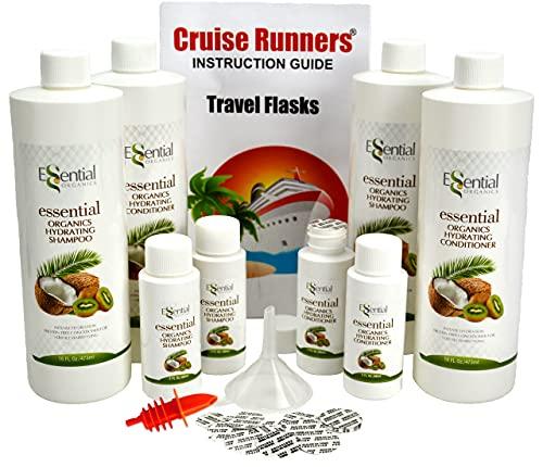 CRUISE RUNNERS Fake Shampoo Conditioner Flask Kit...